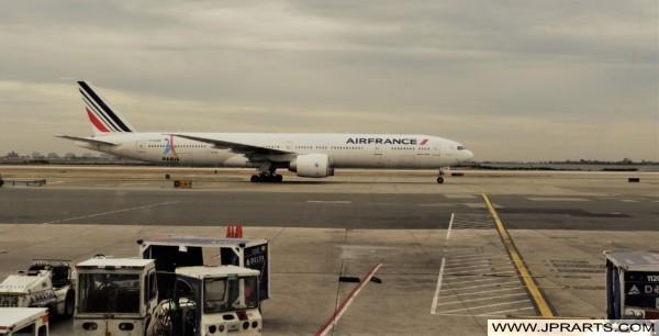 Avion Air France à l'aéroport John F. Kennedy de New York, États-Unis