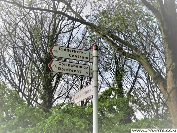 Fietsroutes in Ridderkerk, Nederland