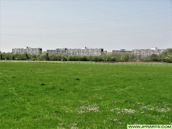 Flatgebouwen in Bolnes (Ridderkerk, Nederland)