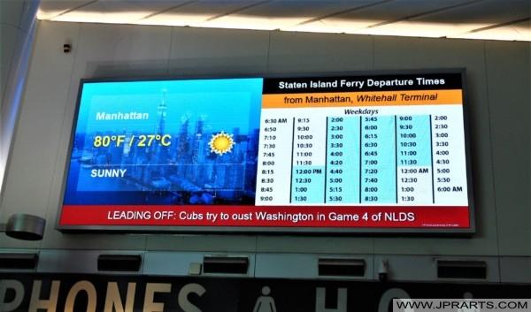 Staten Island Ferry Departure Times from Manhattan (New York, USA)