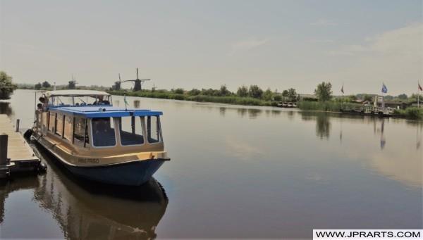 Tour Boat in Kinderdijk, the Netherlands