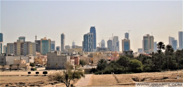Skyline of Manama, Bahrain (seen from the Bahrain fort)