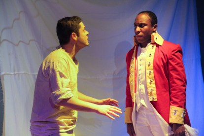 Graham Rice as Ketch Freeman and Baron Anyangwe as 2nd Lieutenant Ralph Clarke in SLT's February 2012 production of Our Country's Good by Timberlake Wertenbaker