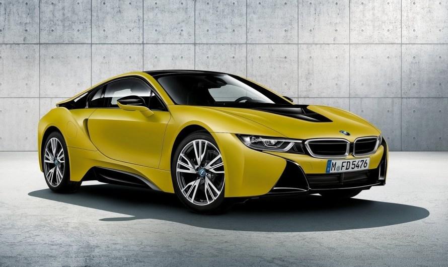 BMW i8 Protonic Frozen Yellow 2018 Nouvelle édition spéciale