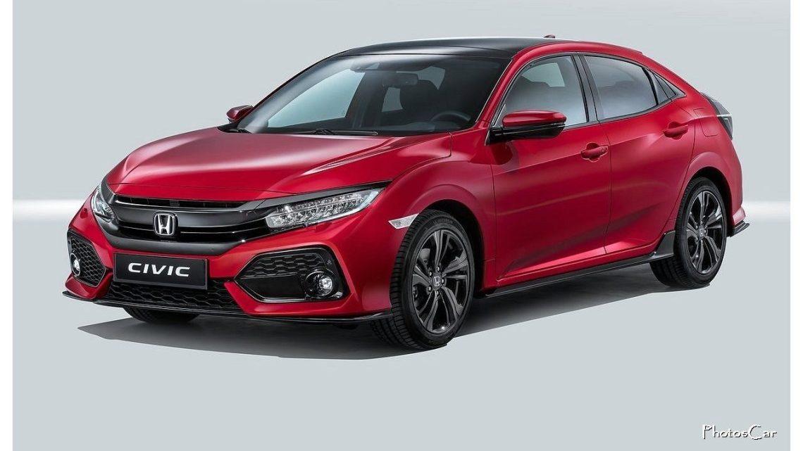 Honda Civic EU Version 2017 sera disponible en sept finitions de peinture