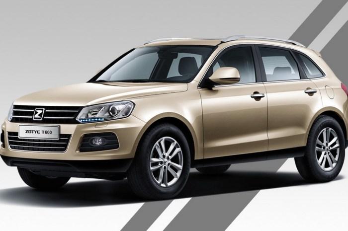 Zotye T600 2013 – Reconnue en Chine en tant que meilleur multisegment
