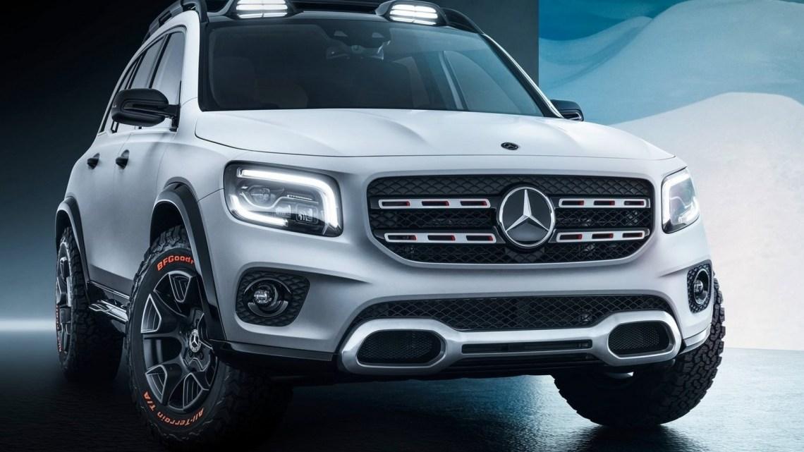 Mercedes GLB Concept 2019 – Équipes pour les expéditions.