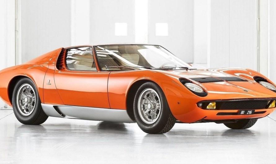 Lamborghini Miura P400 1968 utilisée dans le film «The Italian Job».