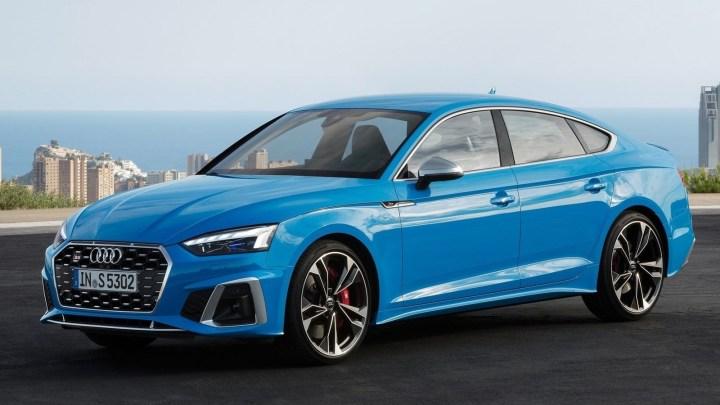 Audi S5 2019 coupé et Sportback – Le profil demeure inchangé.