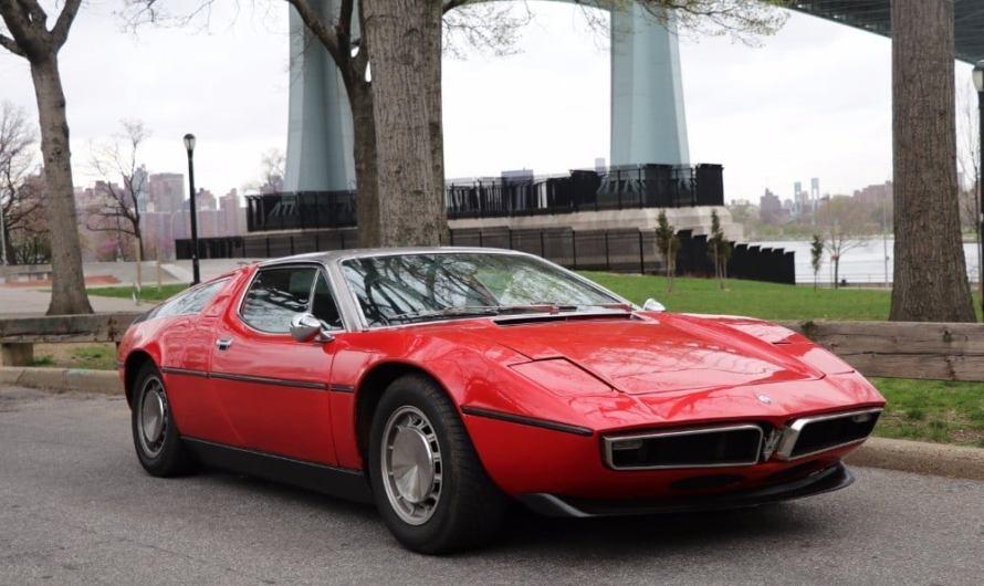 Maserati Bora 4.9 1973 – Première Maserati à moteur centrale arrière.