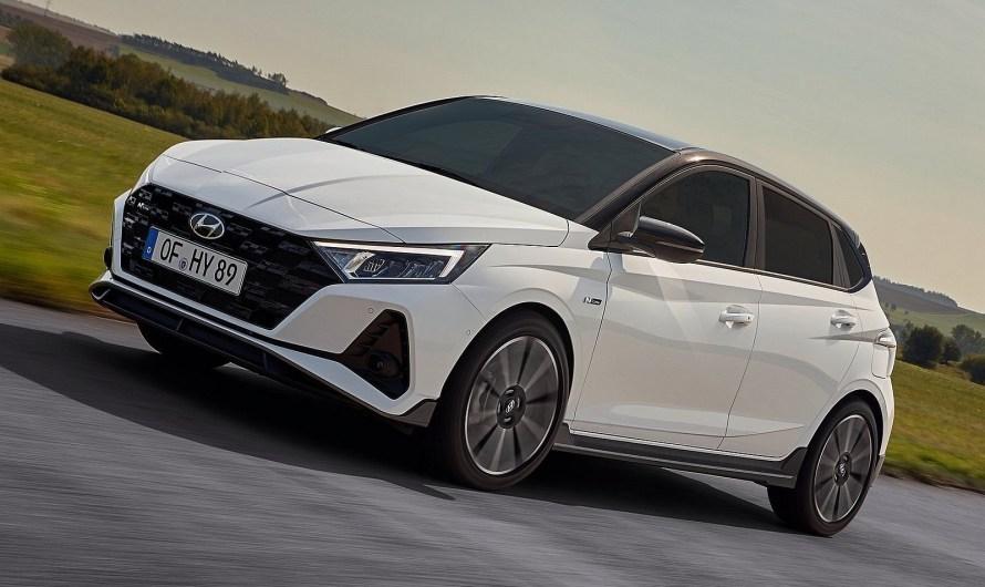 Hyundai i20 N Line 2021 – Elle porte un kit carrosserie sportif