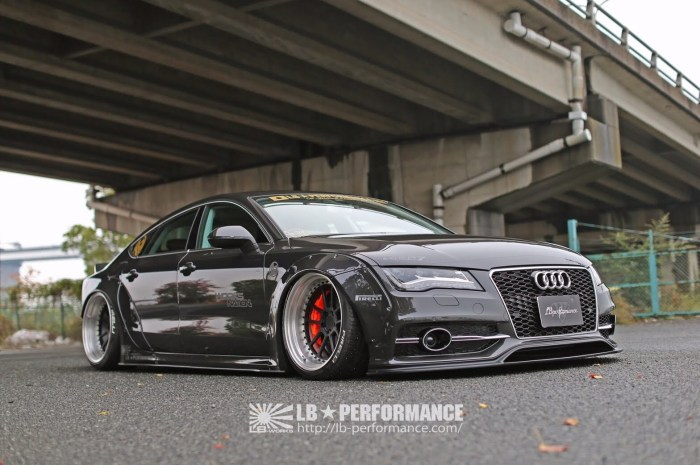 Liberty Walk Audi A7 – Un kit carrosserie complet et radical