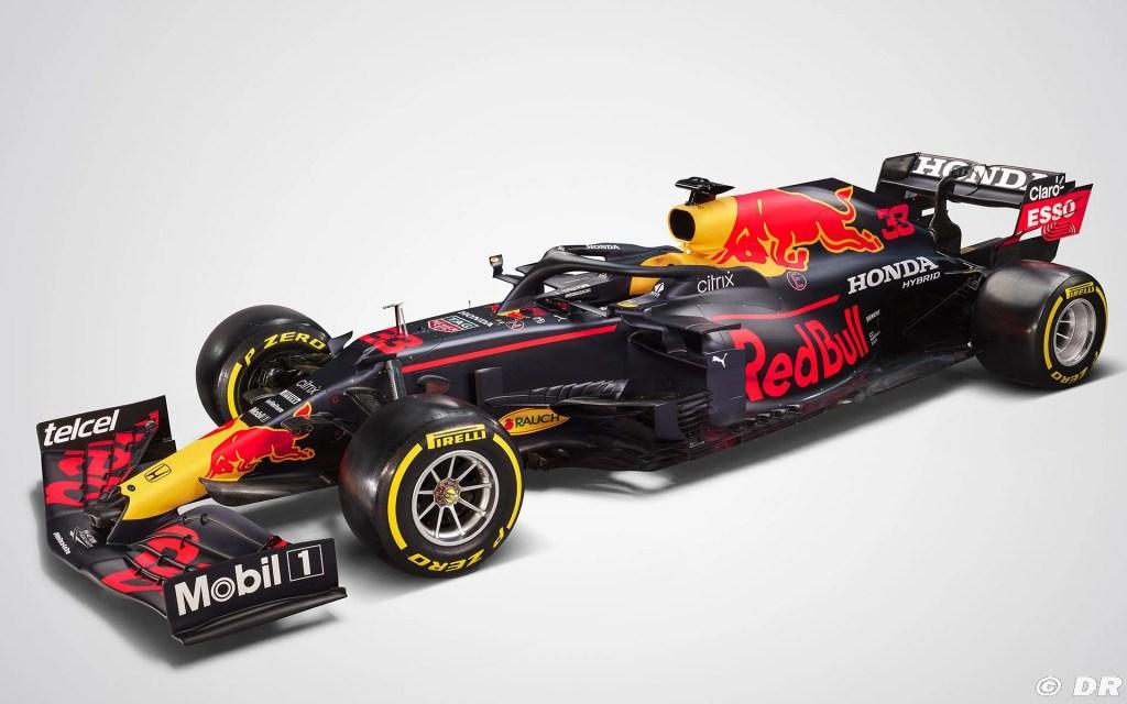 Red Bull RB16B 2021 – La livrée de la voiture est la même que celle de la saison dernière