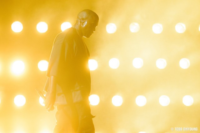 Kanye West performing at the iHeartRadio Music Festival in Las Vegas on September 19, 2015. (Todd Owyoung)