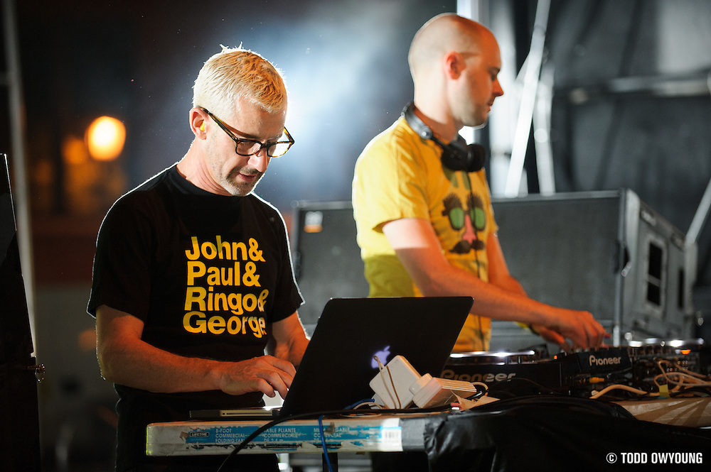 Jono Grant and Tony McGuinnes of UK trance outfit Above and Beyond, performing at the first annual Pulse Festival in St. Louis on June 9, 2012. (TODD OWYOUNG)