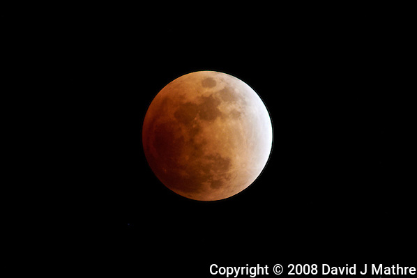 Luna Eclipse over New Jersey. Image taken with a Nikon D300 and 80-400 mm VR lens (ISO 400, 400 mm, f/5.6, 1 sec). (David J Mathre)