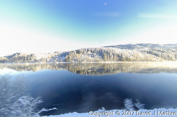 Winter View from the Oslo to Bergen Train. Image taken with a Nikon D2xs and 10.5 mm f/2.8 fisheye lens (ISO 100, 10.5 mm, f/4.8, 1/90 sec). (David J. Mathre)