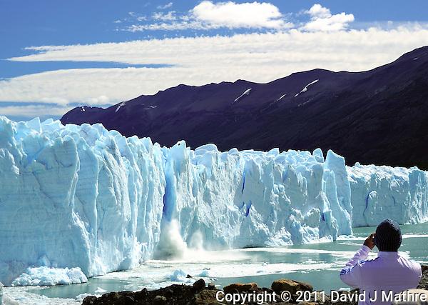 Glacier Calving. Perito Moreno Glacier, Los Glaciares National Park. Image taken with a Nikon D3s and 50 f/1.4 mm lens (ISO 200, f/9, 1/320 sec). (David J Mathre)