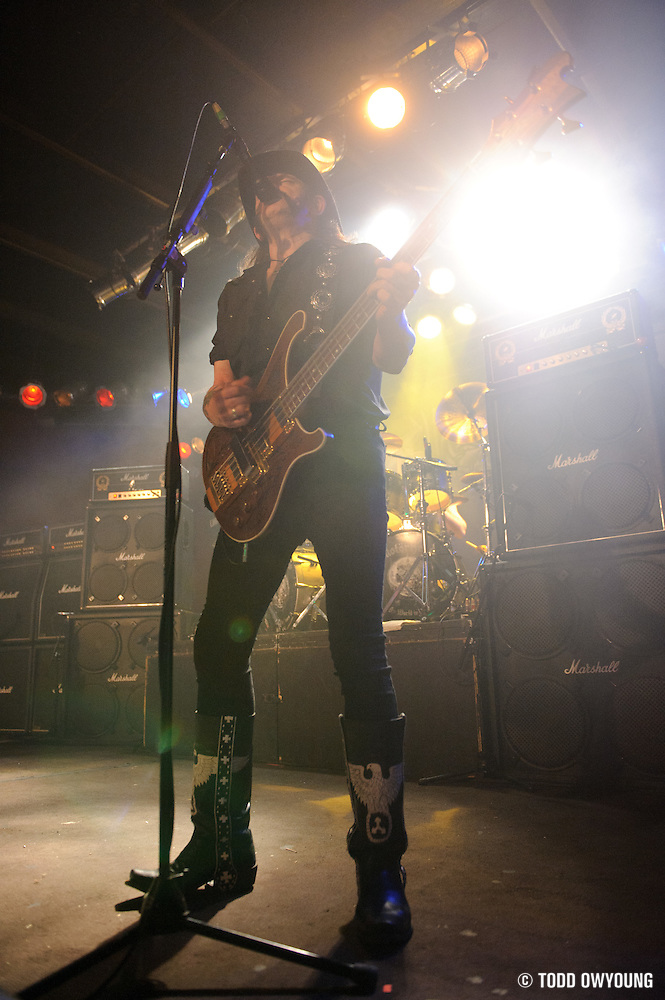 Photos of the British heavy metal band Motörhead performing on February 20, 2011 at Pop's in Sauget, IL. (TODD OWYOUNG)