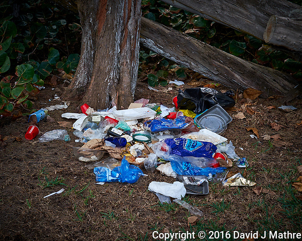 Litterbugs in paradise -- were they locals or tourists??? Malaekahana State Recreation Area on the north shore of Oahu. Image taken with a Fuji X-T1 camera and 23 mm f/1.4 lens (ISO 200, 23 mm, f/6.4, 1/125 sec). (David J Mathre)
