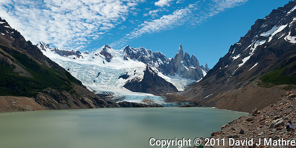 Laguna Torre Panorama. Composite of 4 images from a Nikon D3x and 50 mm f/1.4G lens (ISO 100, f/11, 1/40 sec) combined using AutoPano Giga Pro. (David J. Mathre)