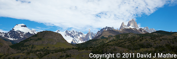 Patagonia Panorama. Image taken with a Nikon D3x and 16-28 mm f/4 VR lens (ISO 100, 31 mm,  f/11, 1/200 sec). Single image HDR with Capture One 6 Pro. (David J. Mathre)