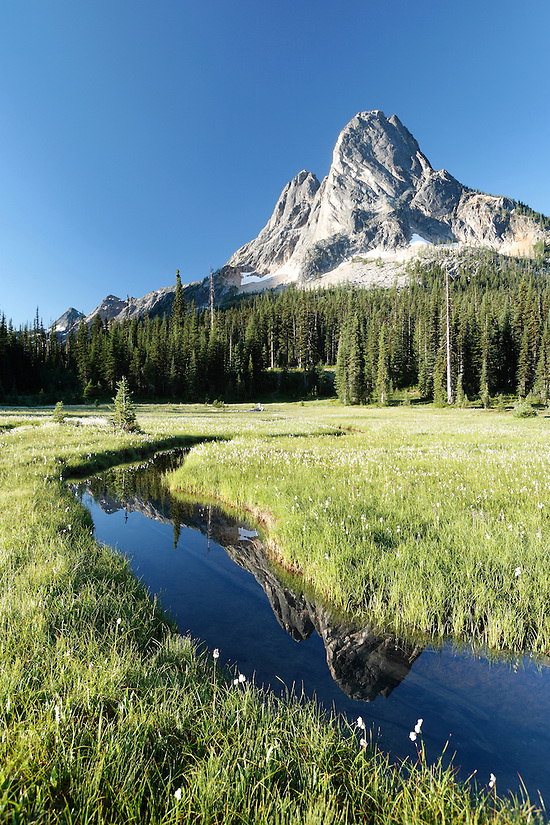 Pond below Liberty Bell Mountain, Washington Pass, Hwy 20, Wenatchee National Forest, North Cascades, Washington (Brad Mitchell/Brad Mitchell Photography)