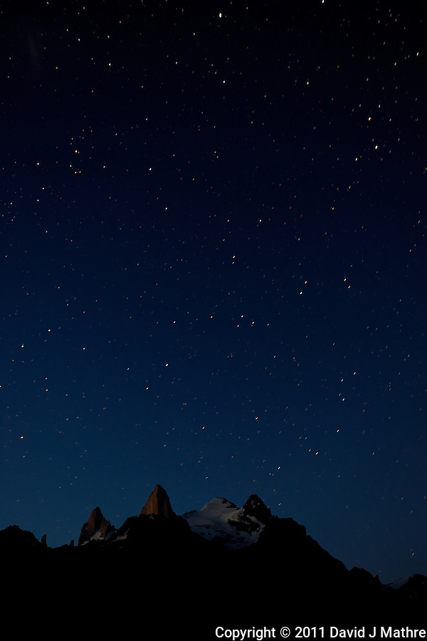 Night Sky in Patagonia. Hosteria El Pilar, El Chalten, Argentina. Image taken with a Nikon D3x and 16-35 mm f/4 lens (ISO 400, 28 mm, f/4.5, 58 sec) (David J Mathre)