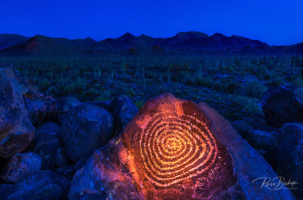 Petroglyphs on Signal Hill, Saguaro National Park (Tucson Mountain District), Tucson, Arizona USA (© Russ Bishop/www.russbishop.com)