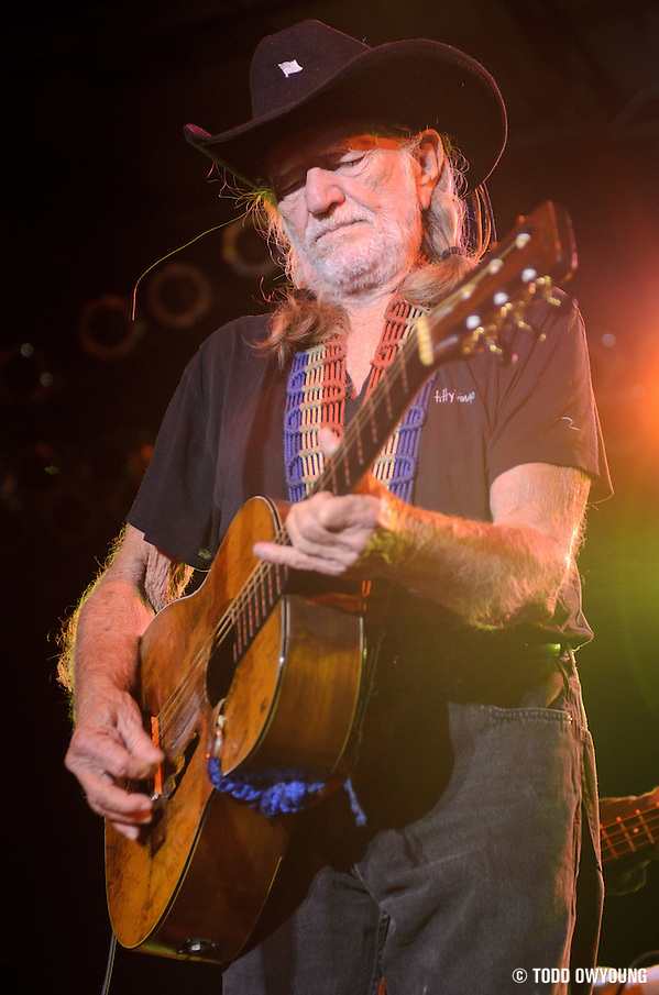 Willie Nelson performs live on the Country Throwdown Tour 2011 at the World Shooting Complex in Sparta, Illinois on June 11, 2011. (Todd Owyoung)