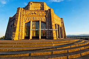 The Vista House overlooks the Columbia River Gorge in Corbett, Oregon. (Beth Hall)