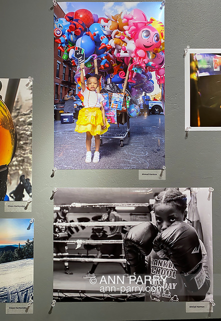 Huntington, New York, U.S. February 29, 2020. Photographs by AHMAD HARMON are among those displayed at fotofoto gallery's 'Your Best Shot' Open Photography exhibition, seen during its Reception. (© 2020 Ann Parry/Ann-Parry.com)