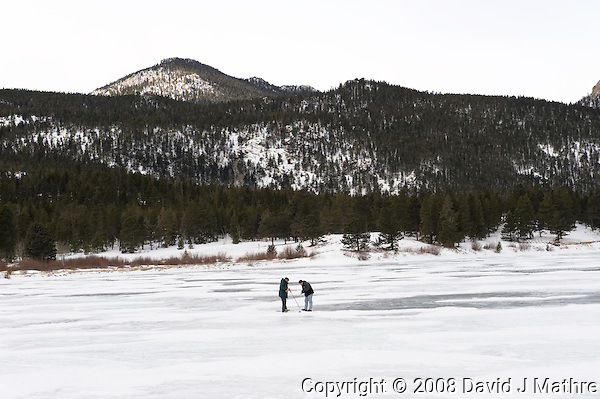 Winter Under Ice Dissolved Oxygen Level Measurement at Lilly Lake, Rocky Mountain National Park, Colorado. Image taken with a Nikon D3 and 24-70 mm f/2.8 lens (ISO 200, 70 mm, f/11, 1/125 sec) (David J Mathre)