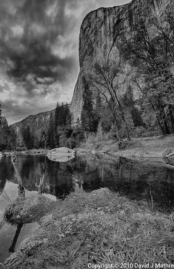 """Yosemite Valley Winter Storm Building. Nikonians """"Yosemite in Winter""""2010 Workshop. HDR Composite. Images taken with a Nikon D3s and 14-24 mm f/2.8 (ISO 200, 16 mm, f/11) (David J Mathre)"""