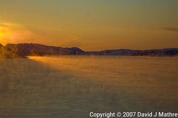 Norway Winter Dawn on the M/S Kong Harald Approaching Kirkenes. Image taken with a Nikon D2xs camera and 28-70 mm f/2.8 lens (ISO 100, 70 mm, f/2.8, 1/2500 sec). (David J Mathre)