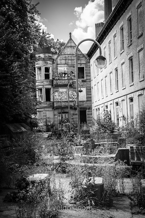 Cincinnati Glencoe-Auburn Hotel. The Glencoe-Auburn Hotel and Glencoe-Auburn Place Row Houses were built in the late 1800's and are listed on the U.S. National Register of Historic Places. The complex is currently abandoned and in extremely poor condition. (Paul Velgos)