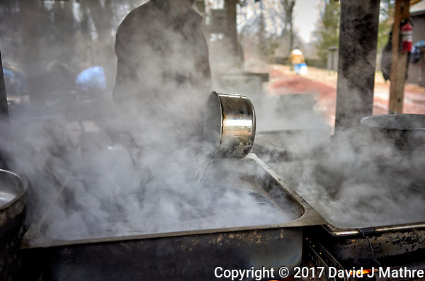 Neighborhood Maple syrup boil down party. Image taken with a Leica T camera and 23 mm f/1.4 lens (ISO 640, 23 mm, f/2, 1/125 sec). (David J Mathre)