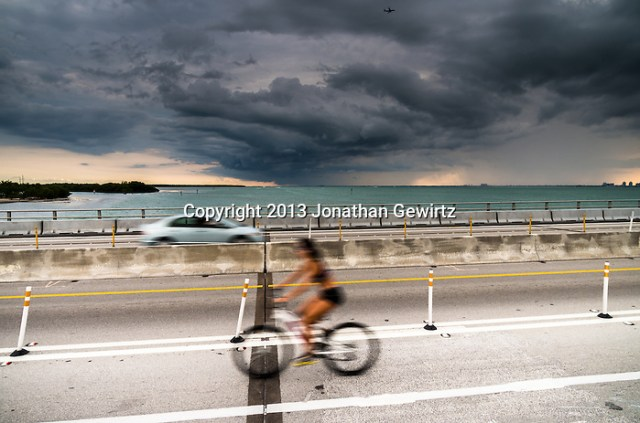 The road bridge across Bear Cut, between Virginia Key and Key Biscayne, on a stormy afternoon. (Jonathan.Gewirtz@gmail.com)