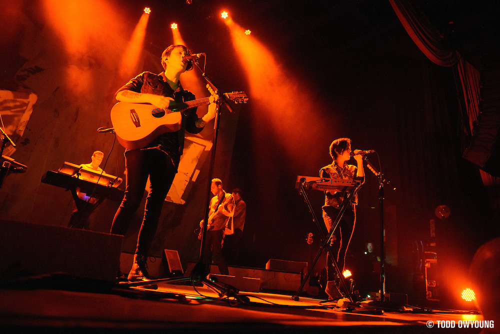 Canadian indie duo Tegan and Sara performing at the Pageant in St. Louis on March 10, 2013. (Todd Owyoung)