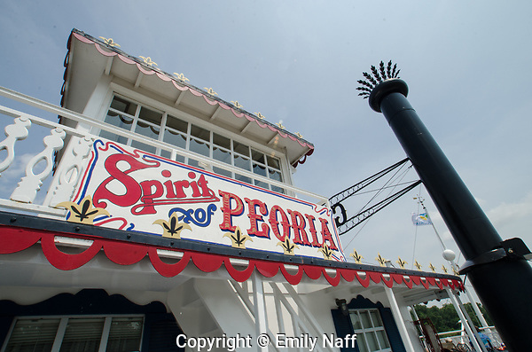 Sprit of Peoria is a paddle driven river boat that takes day trips and extended river trips along the Illinois River. (Emily Naff)