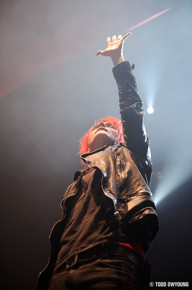 Photos of My Chemical Romance performing at the Pageant in St. Louis on December 14, 2010. (TODD OWYOUNG)