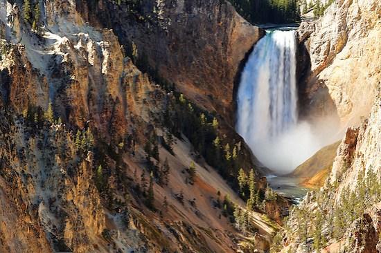 Lower Falls of the Yellowstone River viewed from Artist Point, Grand Canyon of the Yellowstone, Yellowstone National Park, Wyoming, USA (Copyright Brad Mitchell Photography.9601 Wall St.Snohomish, WA 98296.USA.425-418-7279.brad@bradmitchellphoto.com)