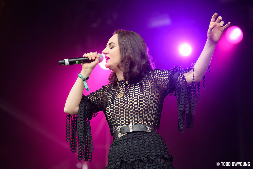 Meg Mac photographed performing at the Governors Ball Music Festival on Randalls Island in New York City on June 3, 2016 (Todd Owyoung)