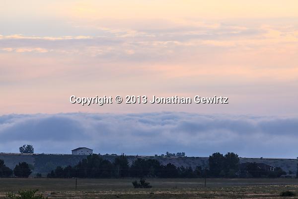 Fog banks over Boulder, Colorado open space, to the east of the Front Range, around sunrise. (Jonathan Gewirtz   jonathan@gewirtz.net)