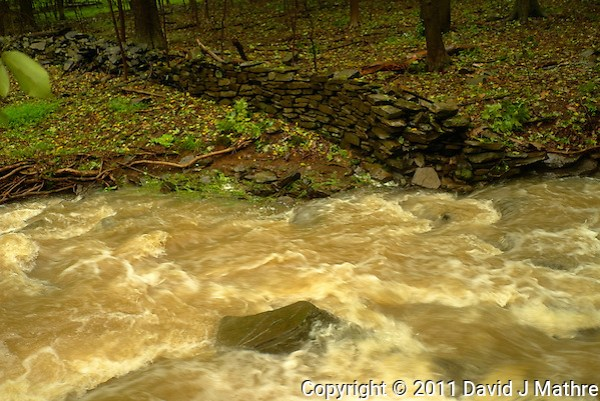 Rock Brook Flooding. Hurricane Irene. Image taken with a Leica X1 camera. (David J Mathre)
