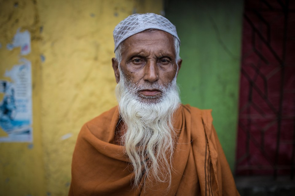 A Muslim man poses for a portrait in Munshigonj near the Sundarban National Park in Bangladesh. (Paul Ratje)