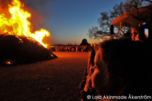 Valborg bonfire at Skansen, Stockholm Valborg / Walpurgis Night Celebrations at Skansen (Lola Akinmade Åkerström)