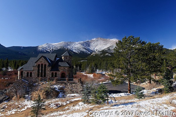 Saint Catherine Chapel and Mt. Meeker, Rocky Mountain National Park. (David J Mathre)