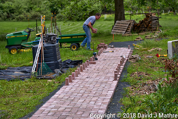 Brick Sidewalk Progress. Image taken with a Leica CL camera and 60 mm f/2.8 lens (David J Mathre)
