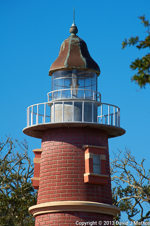 Lighthouse Replica at the Hidden Treasure Rum Bar and Grill. It is right across the street from the real Ponce de Leone Inlet Lighthouse near Daytona, Florida. Image taken with a Nikon D700 and 28-300 mm VR lens (ISO 200, 300 mm, f/13, 1/400 sec). (David J Mathre)